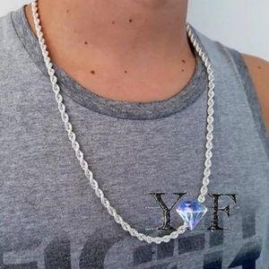 Luxury Men's Women 925 Silver 2MM Necklace